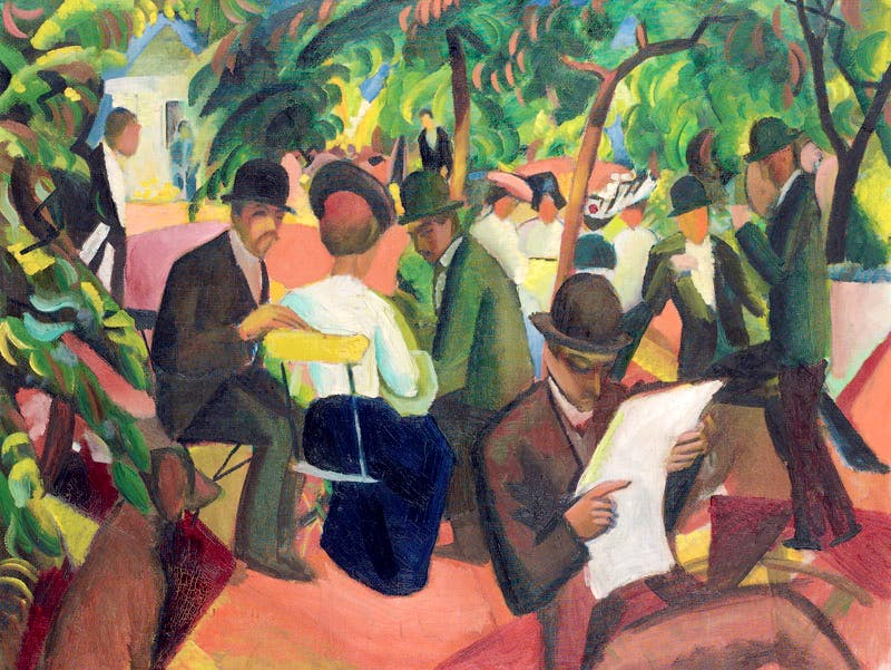 Gartenrestaurant (1912), August Macke.