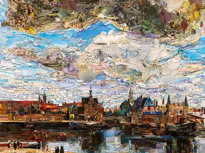 View of Delft (Postcards from Nowhere) (2015), Vik Muniz.