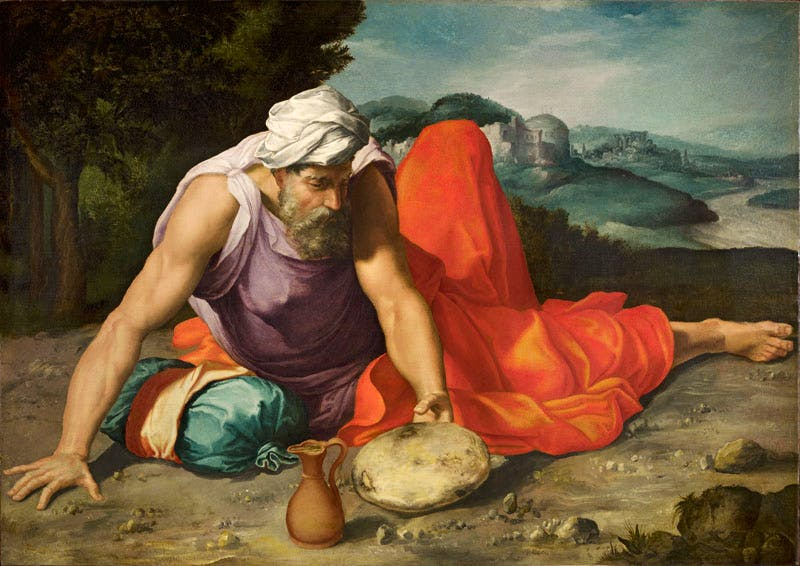 Elijah in the Desert (c. 1545–47), Daniele da Volterra
