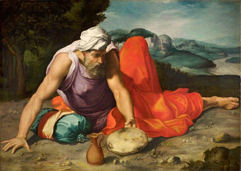 Elijah in the Desert (c. 1545–47), Daniele da Volterra