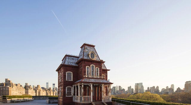 Installation view of The Roof Garden Commission: Cornelia Parker, Transitional Object