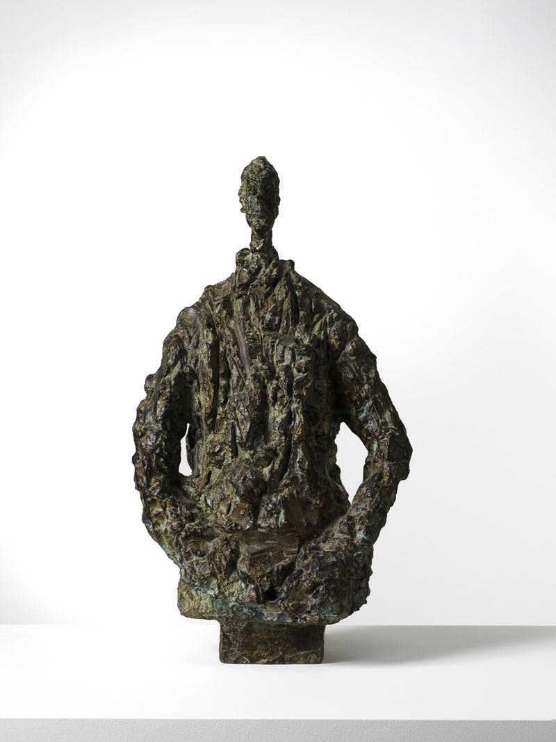 Diego in a Sweater (1953), Alberto Giacometti.
