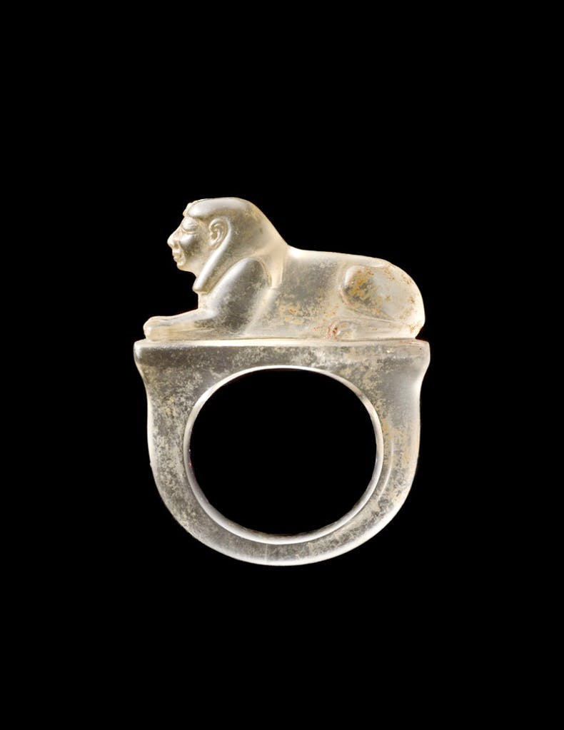 Ring with a sphinx (1295–1069 BC), Egyptian, 19th–20th Dynasty.