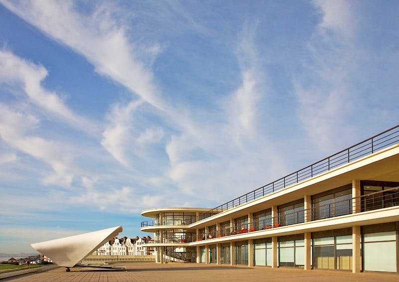 The De La Warr Pavilion at Bexhill-on-Sea, opened in 1935 and successfully restored in 2003–05.