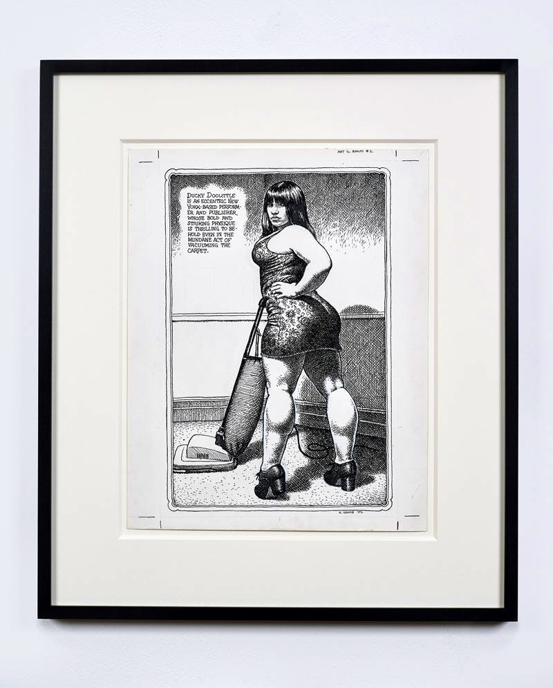 Untitled (2002), Page from Art & Beauty Magazine, #2, (2003), R. Crumb.