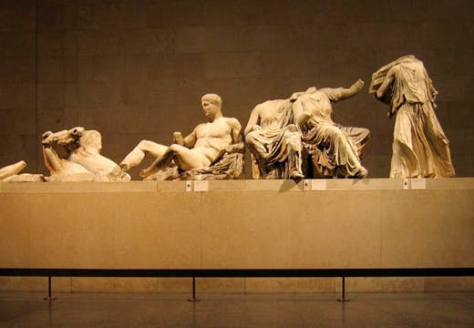 East pediment of the Parthenon frieze at the British Museum.