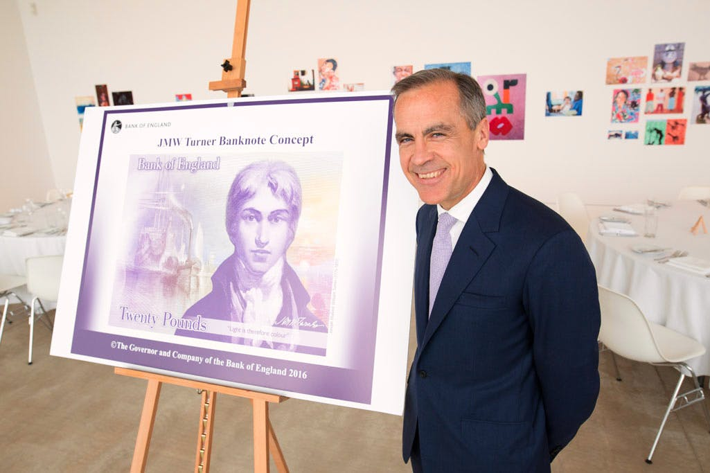 Bank of England Governer Mark Carney unveiled the design for a new £20 at Turner Contemporary today (22 April).