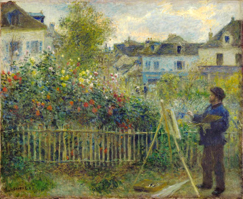 Monet Painting in His Garden at Argenteuil (1873), Auguste Renoir