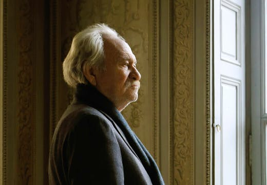 Jannis Kounellis photographed at the Monnaie de Paris, March 2016.