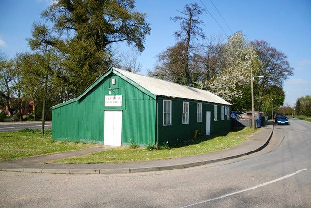 The church hall in Leverton, Lincs., is among the venues slated for future 'Turbine Hall' installations