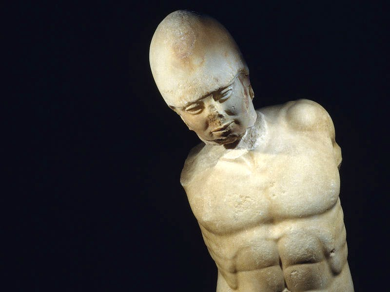 Marble statue of a warrior (c.470 BC), Unknown