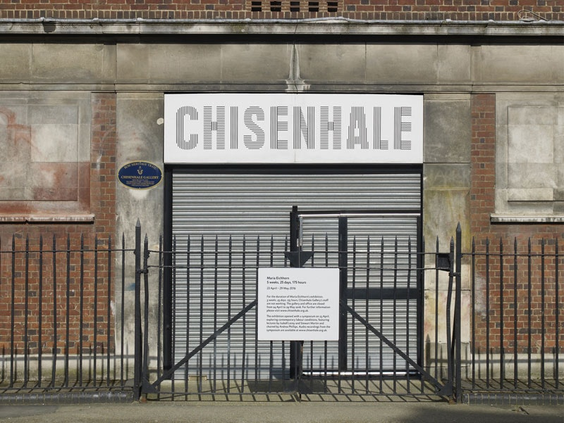 Chisenhale Gallery has closed its doors for the full duration of conceptual artist Maria Eichhorn\u0027s solo & A London gallery has shut its doors in the name of art. Why ...