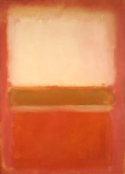 Untitled (White, Pink and Mustard) (1954), Mark Rothko