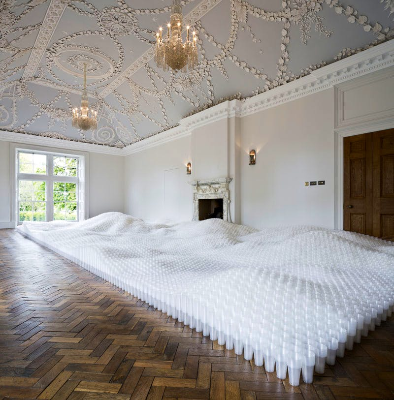 Untitled (Plastic Cups) (2006), Tara Donovan, at Jupiter Artland in 2015.