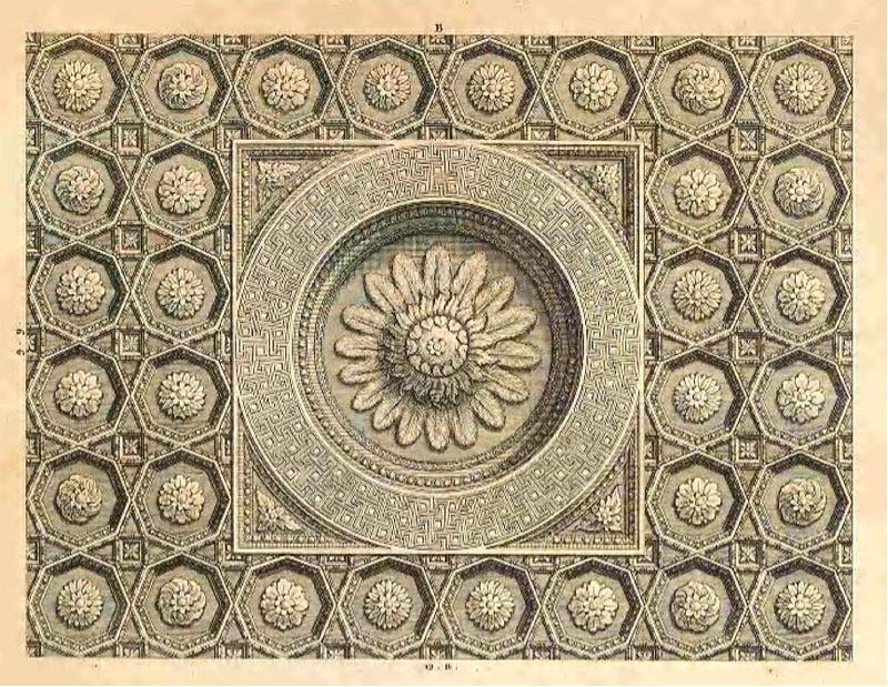 Ceiling detail from Wood's The Ruins of Palmyra (1753)