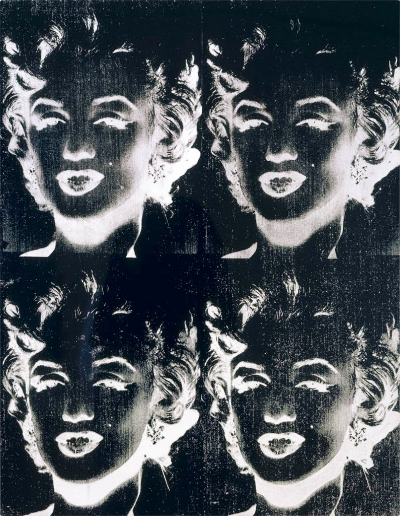 Four Marilyns (1979–86), Andy Warhol.