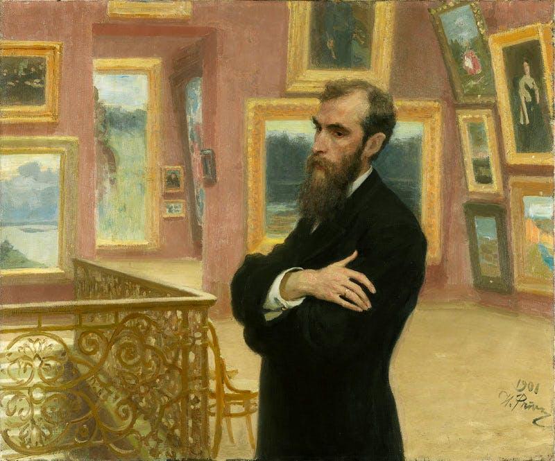 Pavel Tretyakov (1901), Ilia Repin. State Tretyakov Gallery, Moscow