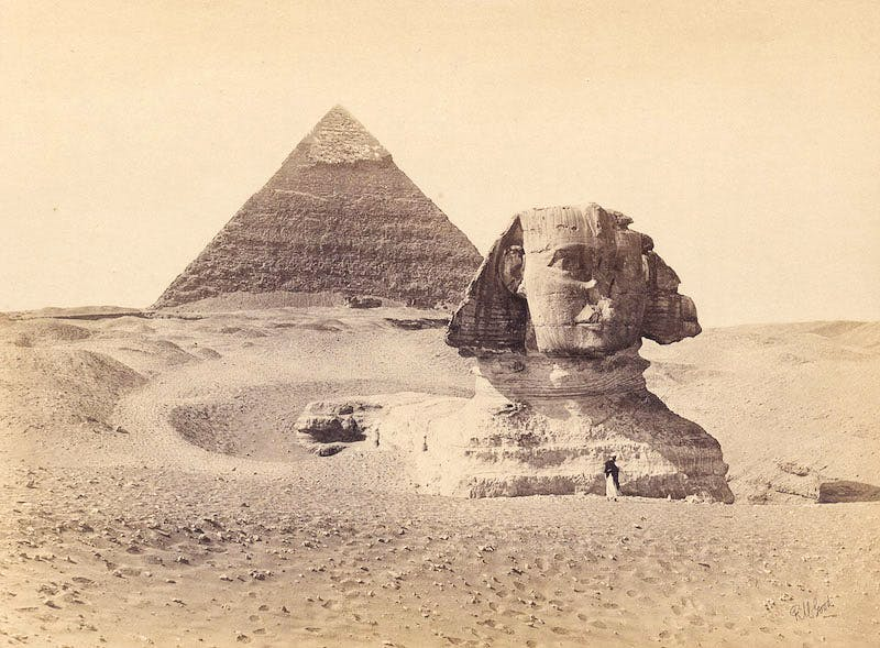 Chephren-Pyramid and Sphinx, Giza