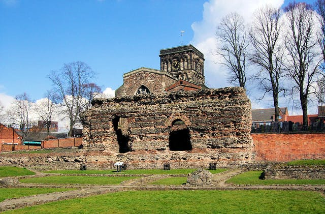 The Jewry Wall And St Nicholas Church, Leicester
