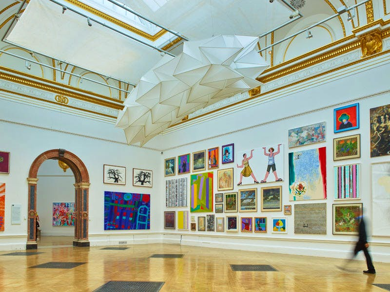 Installation view of the Summer Exhibition 2016 at the Royal Academy of Arts, London