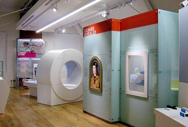 One of the galleries in the Richard III visitor centre, Leicester.