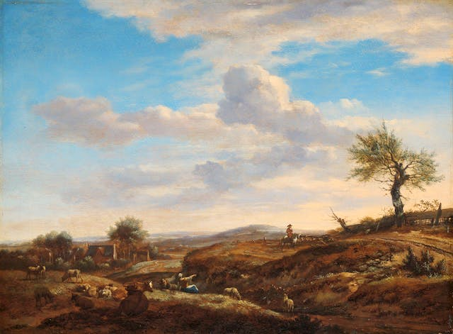 Hilly Landscape with a High Road