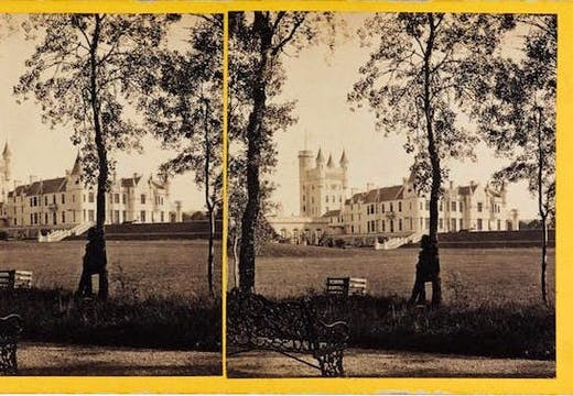 Stereocard depicting Balmoral Castle from the north-west (1863), George Washington Wilson (1823–90) & Co., Aberdeen. © National Museums Scotland