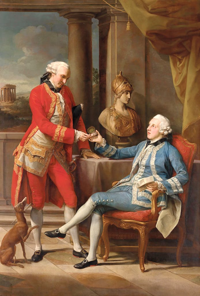 Sir Sampson Gideon, 1st Bt., later 1st Lord Eardley, and an unidentified Companion