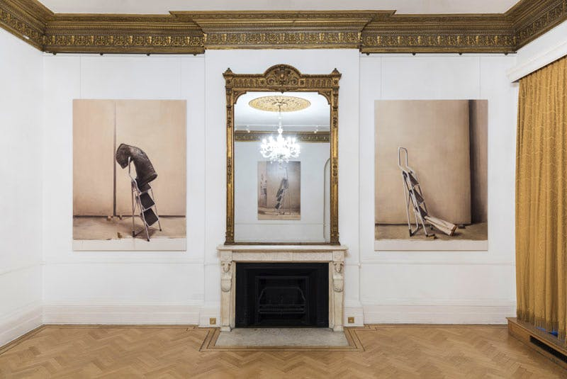 Installation view of 'Proprioception: Manuele Cerutti' at the Italian Cultural Institute, London. Courtesy the artist and ARTUNER. Photo: Damian Griffiths