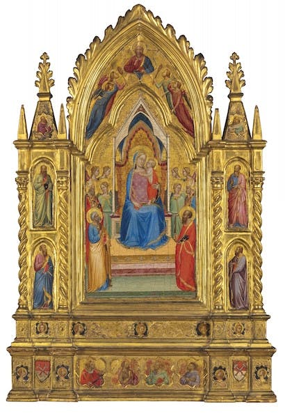 The Madonna and Child Enthroned with saints and angels