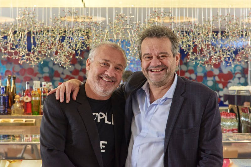 Damien Hirst and Mark Hix at Pharmacy 2