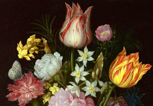 Flowers in a Glass Vase (1614), Ambrosius Bosschaert the Elder.