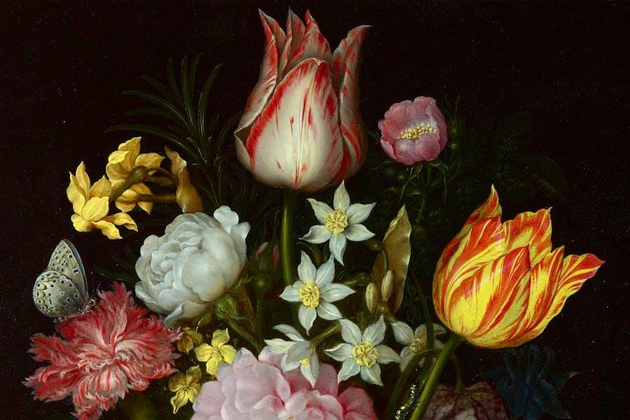 Flowers in a Glass Vase (1614), Ambrosius Bosschaert the Elder.