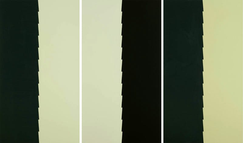 First City, Light and Dark (2015), triptych by Tess Jaray
