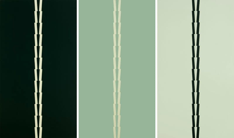 From Borromini, Blue, triptych by Tess Jaray