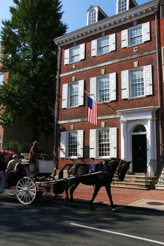 Powel House in Philadelphia, built in 1765