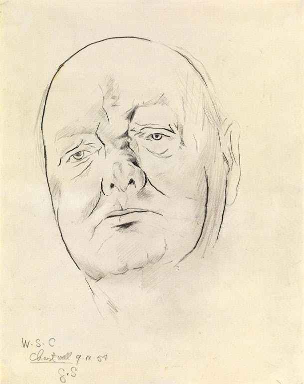 Study of Sir Winston Churchill