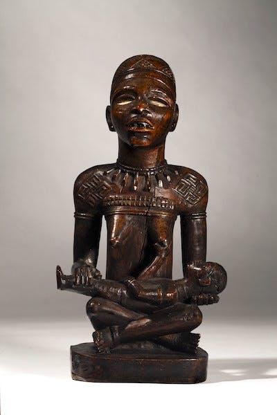 Kongo-Yombe maternity figure, the Master of Kasadi, Democratic Republic of Congo