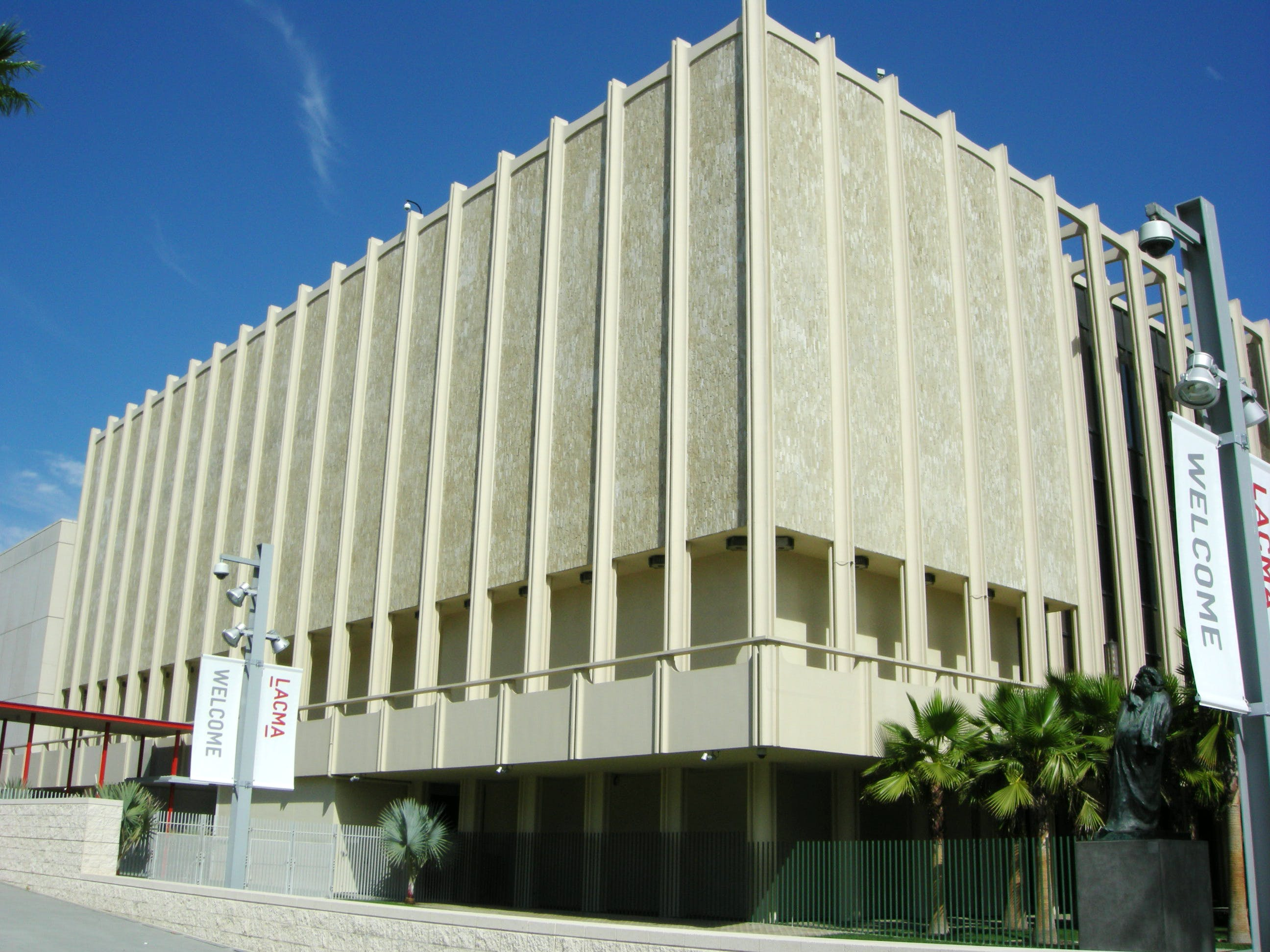 One of the original 1965 buildings of the Los Angeles County Museum of Art.