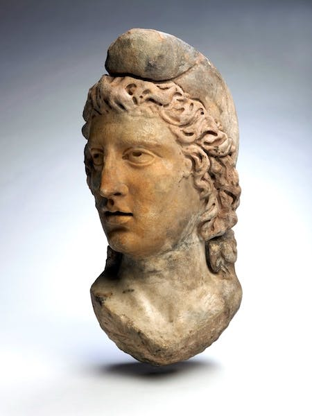 Statue head of God Mithras