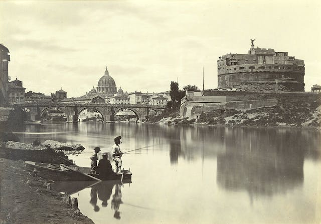 The Tiber with Castel Sant'Angelo and St. Peter's