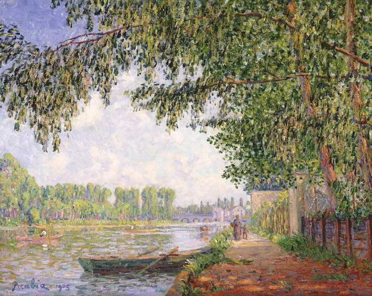 Effect of Sunlight on the Banks of the Loing, Moret