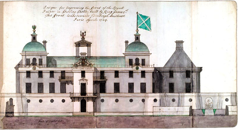 Proposal for the south-east elevation of Stirling Castle