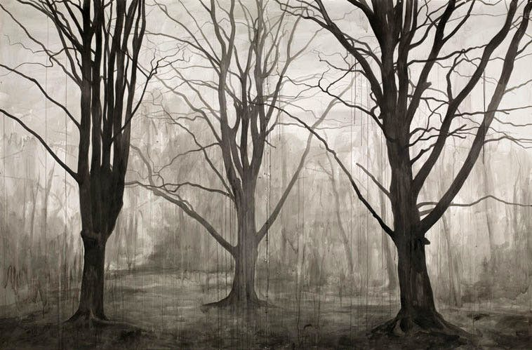 Hanging Around (Landscape without Figures) (2012), George Shaw.