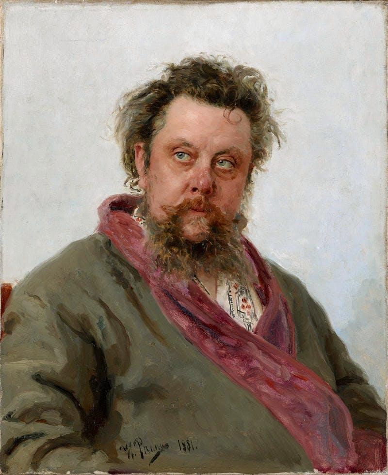 Modest Mussorgsky (1881), Ilia Repin. State Tretyakov Gallery, Moscow