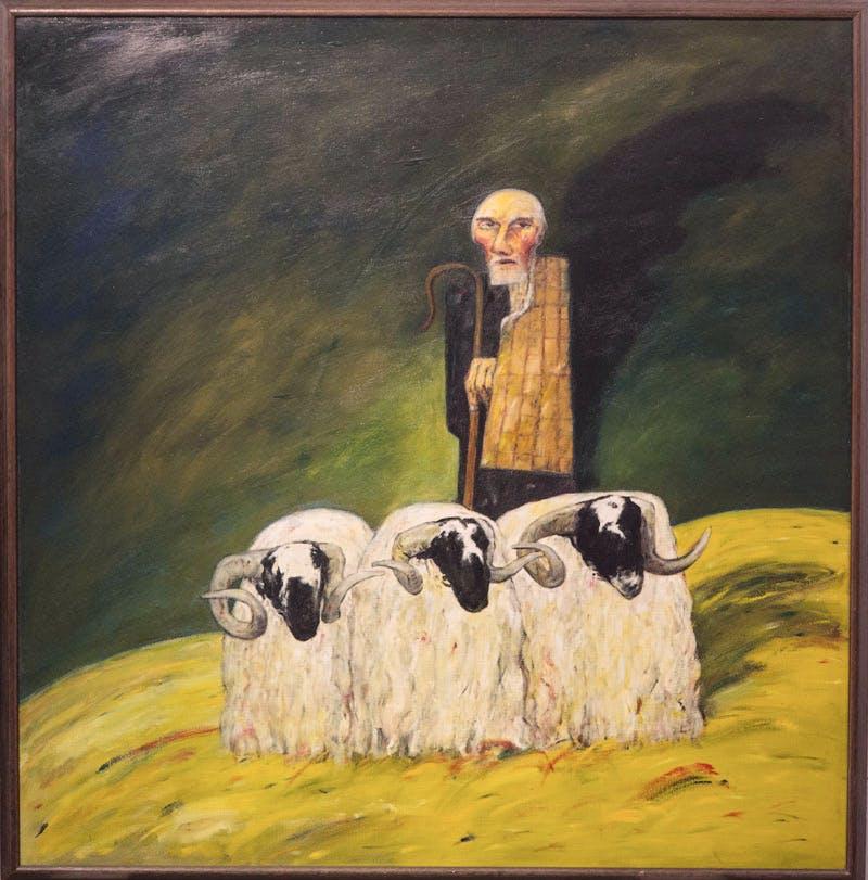 The Ettrick Shepherd (1967), John Bellany.