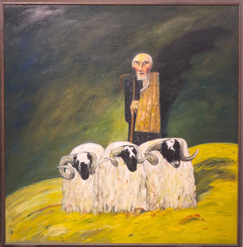 The Ettrick Shepherd (1967), John Bellany.