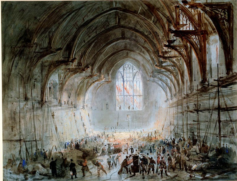 Westminster Hall on Fire (1834), George B. Campion