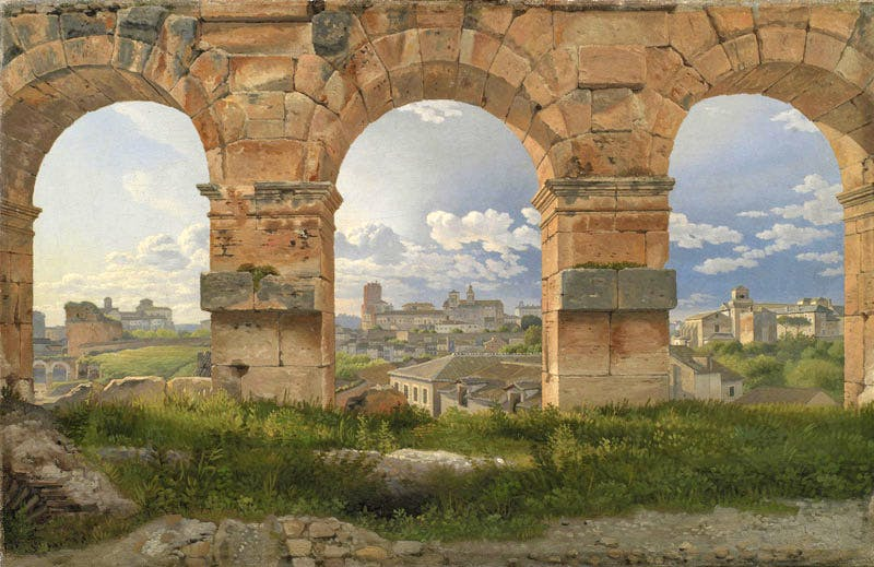 View through three Arches of the Colosseum in Rome (1815), Christoffer Wilhelm Eckersberg