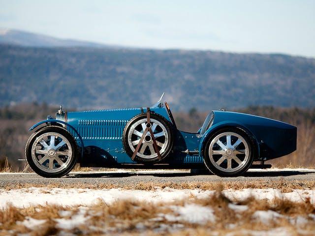 The Bugatti T35, designed by Ettore Bugatti (1881–1947) and produced from 1924–30